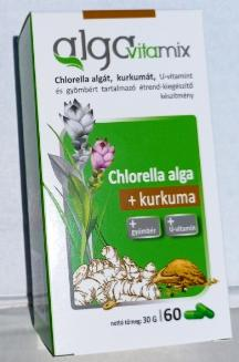 Alga Vitamix + Kurkuma, gyömbér, u-vitamin kapszula 60 db/doboz