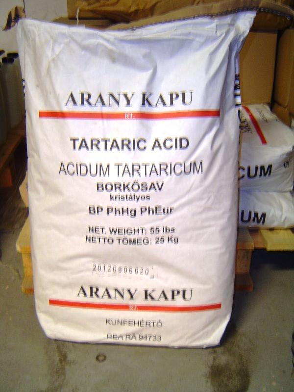 Borkősav 25 kg-os zsákban ár/1 kg,
