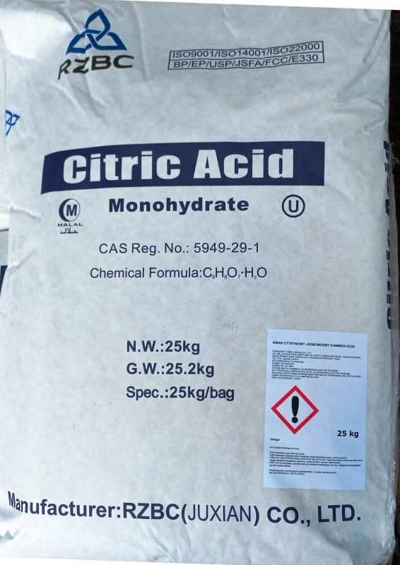 Citromsav étkezési minőség 25 kg-os zsákban ömlesztve (ár / 1kg)