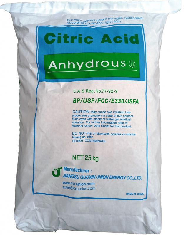 Citromsav vízmentes anhidrát 25 kg-os zsákban (ár / 1kg)