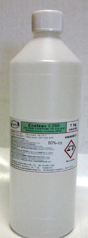 Ecetsav élelmiszeripari 80%-os 1 kg