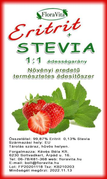Eritrit + Stevia 250 g 1:1 arányú  természetes édesítőhatás