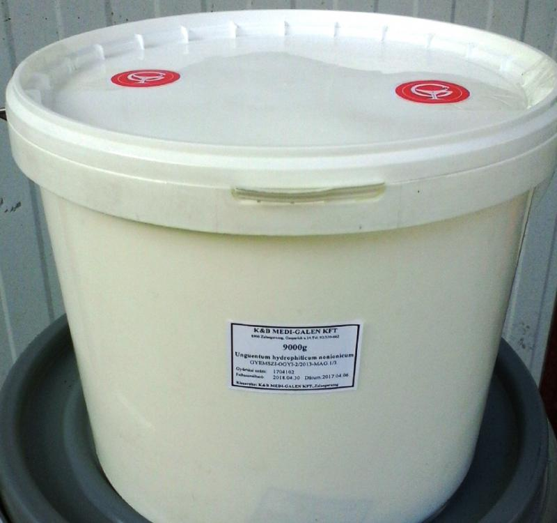 Hidrofil nonion koncentrátum gyógyszerkönyvi minőség 9 kg -os vödörben ár/1 kg