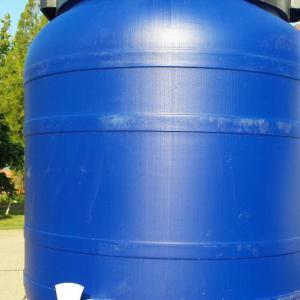 Műanyag hordó 250 l-es ballon 42 cm-es csappal csavaros szájnyílással