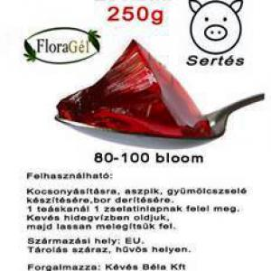 Zselatin FloraGél 80-100 bloom 250g Nagy tisztaságú étkezési