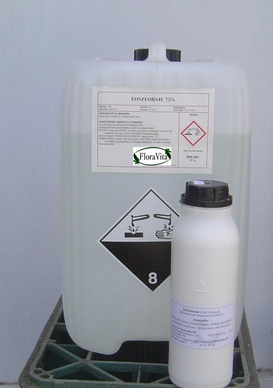 Foszforsav élelmiszeripari 75% 30 kg-os (ár/kg)