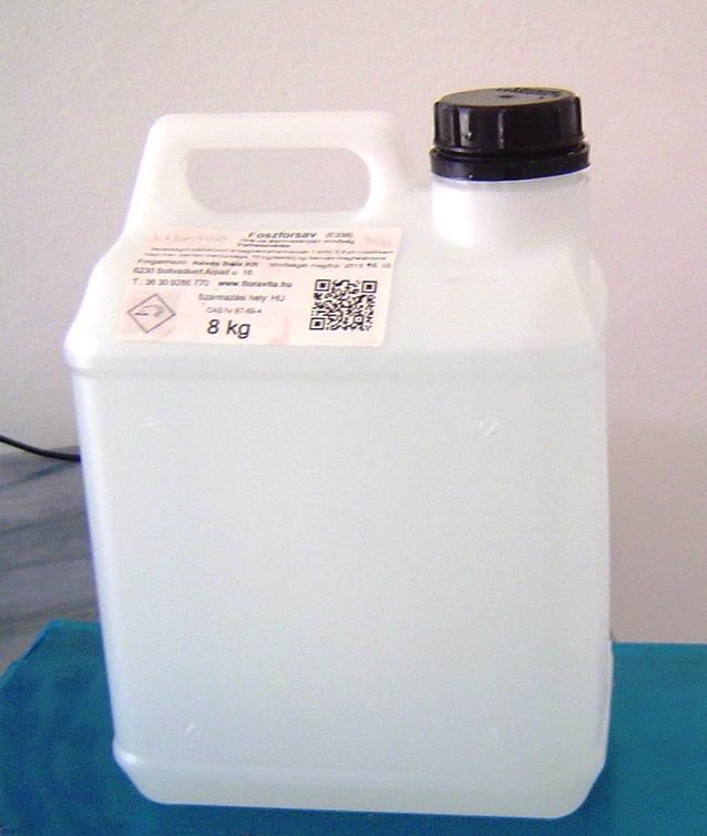 Foszforsav élelmiszeripari 75% ár/kg 8 kg-os
