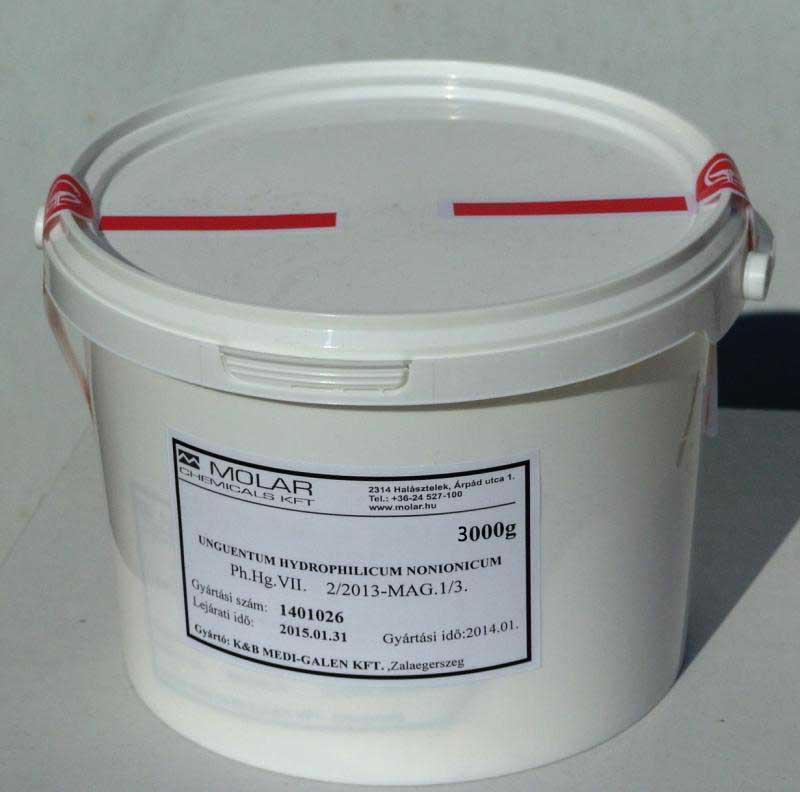 Hidrofil nonion koncentrátum 3 kg gyógyszerkönyvi minőség.