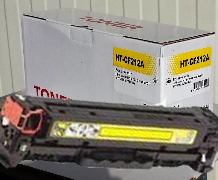 HP CF212A Lézer toner utángyártott.  (131A)  Kompatibilis  (M-251,276)