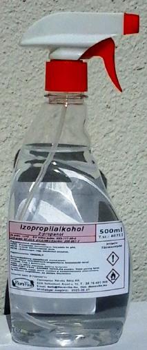 Izopropil alkohol 500 ml szórófejjel 100 %-os