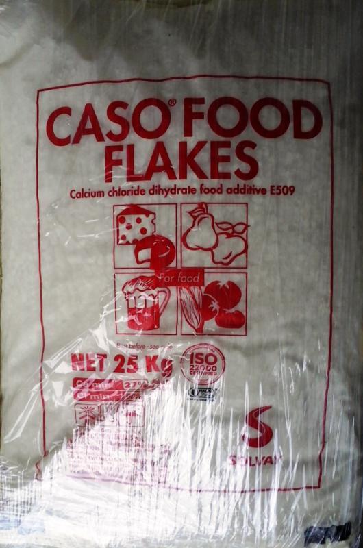 Kalcium-Klorid pehely élelmiszeripari 25 kg-os Zsákban (ár/kg)