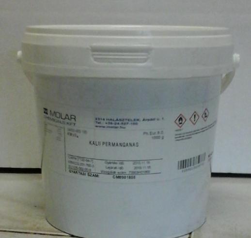 Kálium-permanganát gyógyszerkönyvi minőség 1000 g