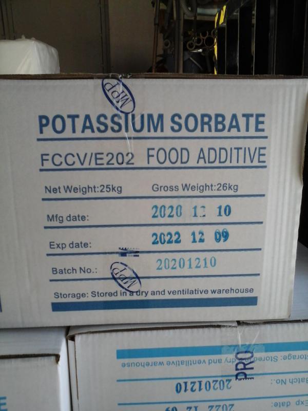 Káliumszorbát 25 kg Nutrinova