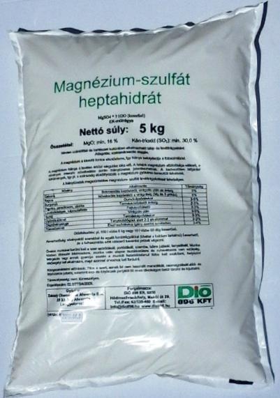 Keserűsó lombtrágya 5 kg Magnézium-szulfát (MgO) tartalom 99,1%