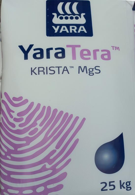 Keserűsó lombtrágya Magnézium-szulfát (MgO) 16%, Kén (SO3) 30% 25 Kg ár/ 1kg