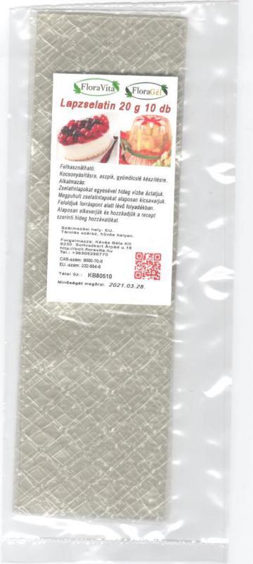 LAPZSELATIN 20 g.  10 db. zselatinlap