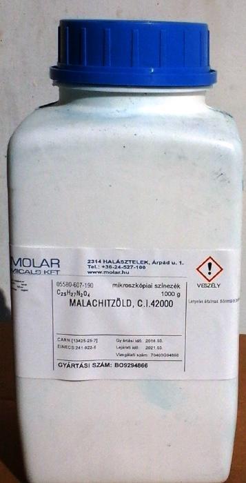 MALACHITZÖLD, C.I.42000, kristály 100g