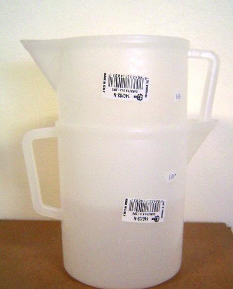 Mérőkancsó műanyag 5 l-es