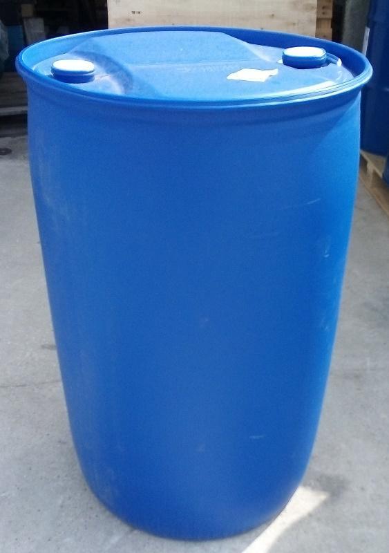 Műanyag hordó 1 x használt. 220 l-es ballon 2 db csavaros szájnyílással.