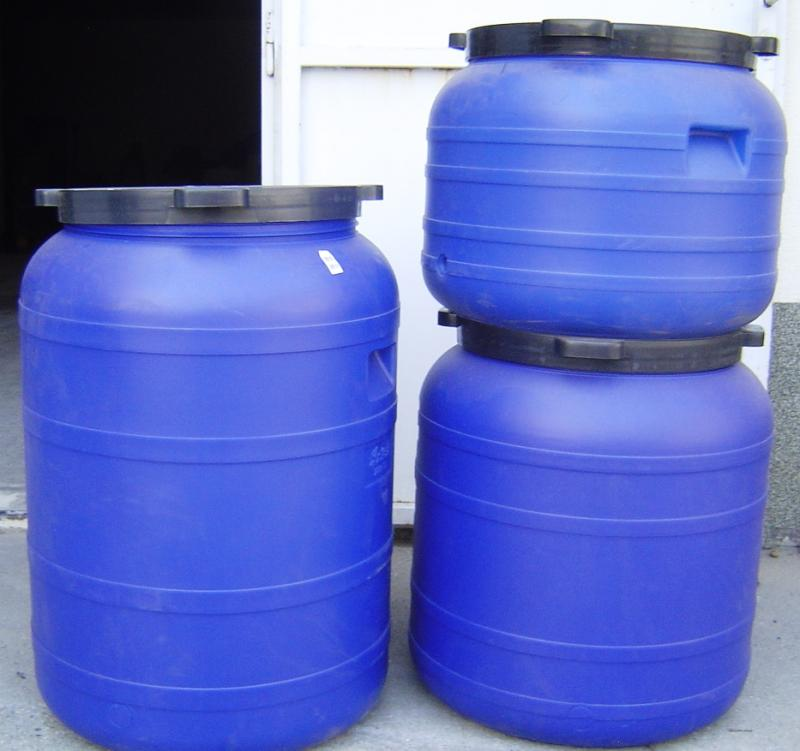 Műanyag hordó 100 l-es ballon csavaros tetővel 42cm-es szájnyílással (kék)
