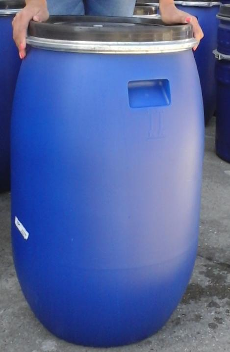 Műanyag hordó 120 l-es (kék) ballon bilincses