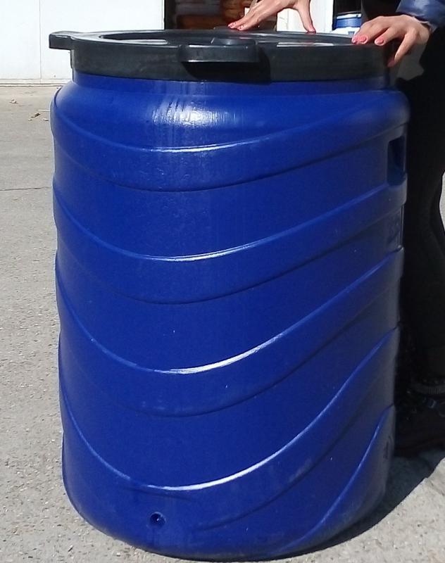 Műanyag hordó 240 l-es ballon 51 cm-es csavaros szájnyílással