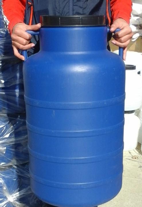 Műanyag hordó 60 l-es kék ballon csavaros tetővel
