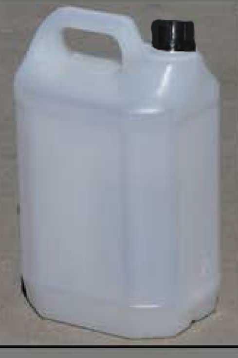 Műanyag kanna 5 l-es ballon, élelmiszeripari, kupakkal, Könnyített