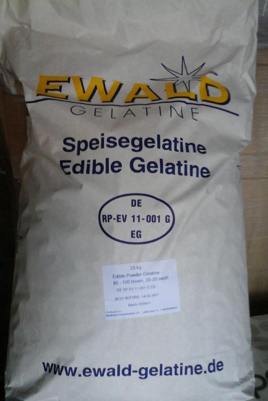 Nagy tisztaságú étkezési zselatin FloraGél 80-100 bloom  25kg-os zsákban  (ár / 1kg)