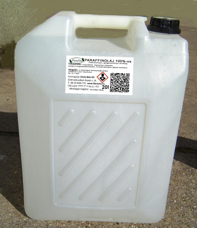 Paraffin olaj 20 literes kannában, gyógyszerkönyvi (Ár/1 liter)