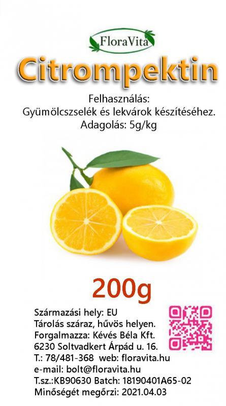 Pektin citrom 200 g-os Ft/gramm