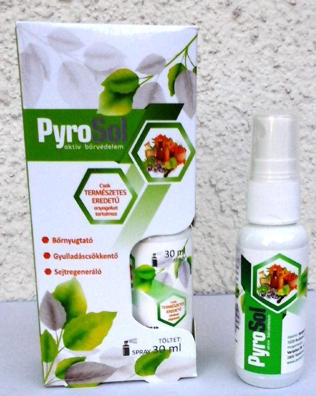 PYROSOL bőrnyuktató gyulladáscsökkentő a sejtek regenerálódását segítő spray