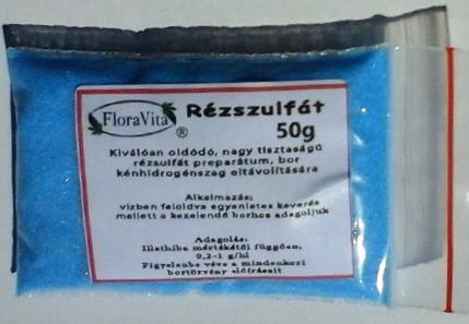 Rézszulfát nagy tisztaságú 50 g