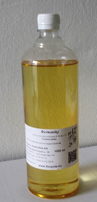 Ricinusolaj gyógyszerkönyvi minőség. 1000 ml