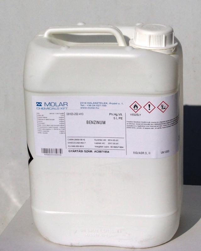 Sebbenzin gyógyszerkönyvi minőség benzinum 5 lliter ár/1iiter
