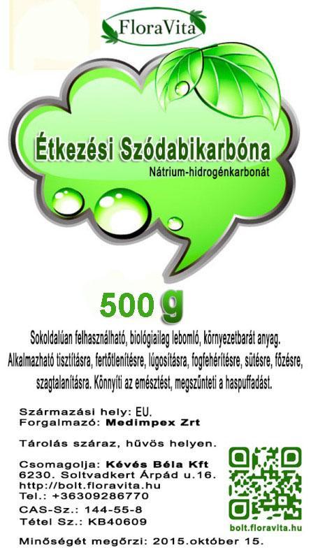 Szódabikarbóna SOLVAY étkezési 500 g USP, FCC minőség.