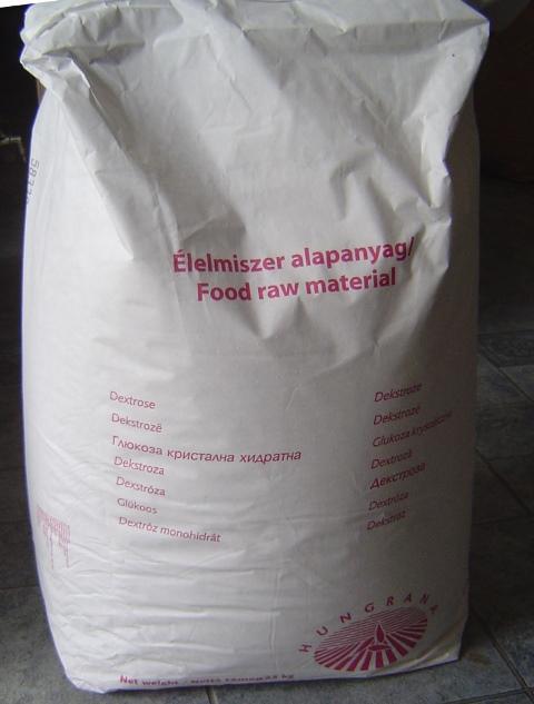 Szőlőcukor (dextróz) 25 kg-os zsákban (ár /  kg)