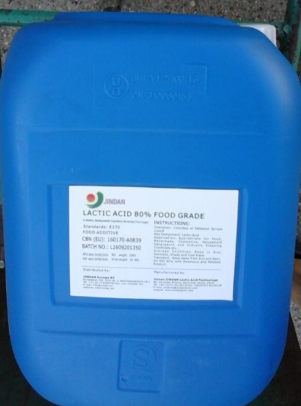 Tejsav 80 %-os 25 kg-os kannában ár/1 kg Élelmiszeripari minőség E270