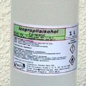 Izopropil alkohol 1000 ml 100%-os tisztaságú