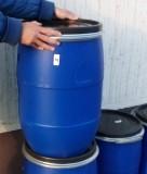 Műanyag hordó 60 l-es ballon Bilincses tetővel kék szín