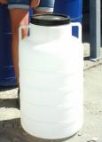 Műanyag hordó 60 l-es ballon csavaros tetővel fehér