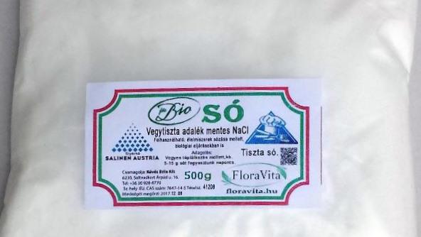 Tiszta só biosó NaCl 500 g vegytiszta étkezési konyhasó