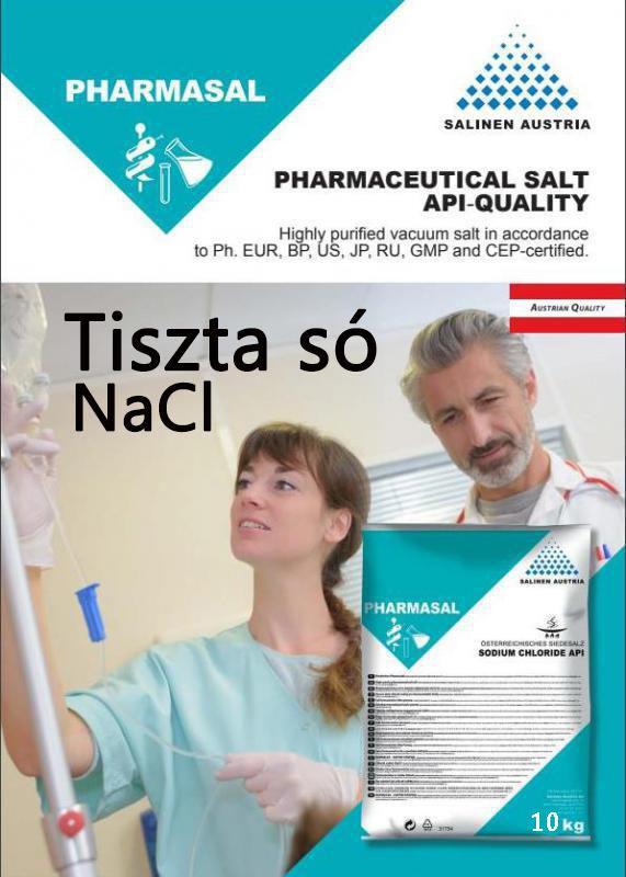 Tiszta só NaCl patika tisztaságú 10 kg-os konyhasó   Gyógyszerkönyvi minőség. ár/kg