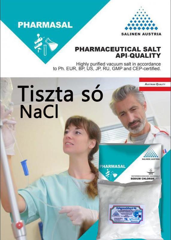 Tiszta só NaCl patika tisztaságú só Gyógyszerkönyvi minőség. 1 kg