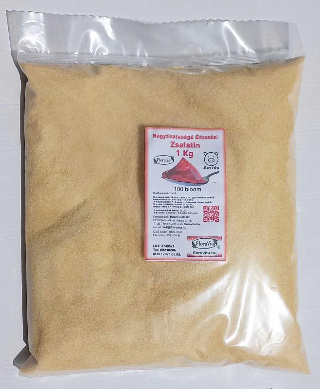 Zselatin FloraGél 80-100 bloom 1kg Nagy tisztaságú étkezési