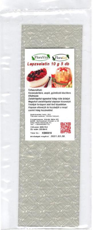 ZSELATIN LAP  10 g.  5 db zselatinlap