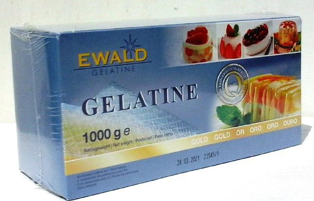 Zselatinlap  1000 g. 500 db zselatinlap