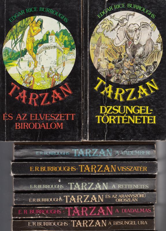 E. R. Burroughs : TARZAN KÖNYVEK  450 Ft / db