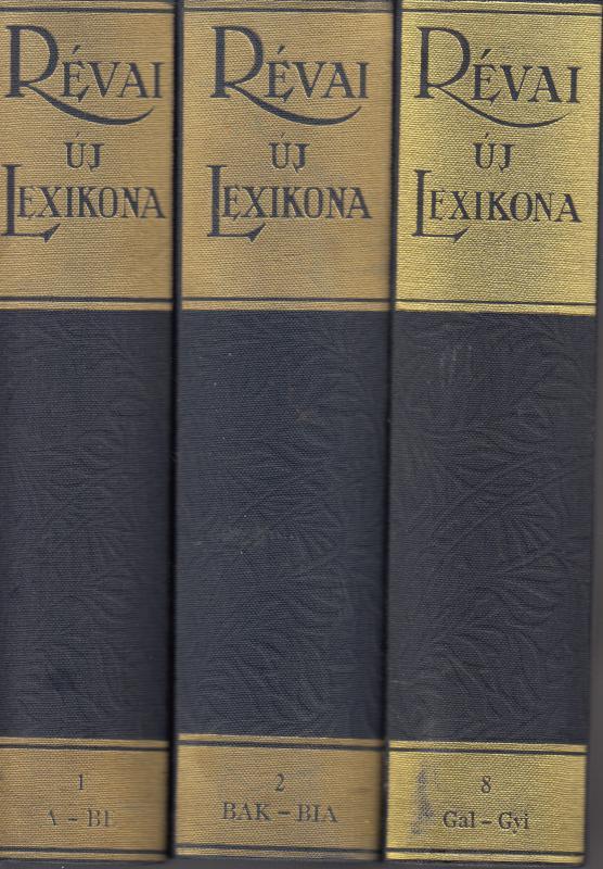 RÉVAI ÚJ LEXIKONA I. -VIII.