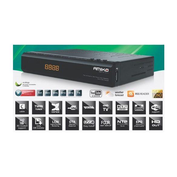 AMIKO HD 8142 TWIN DVB-C T2 CI CX E HDTV COMBO BELTÉRI EGYSÉG